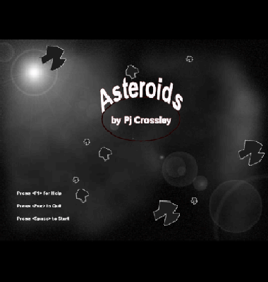 screen shot of Asteroids Freeware