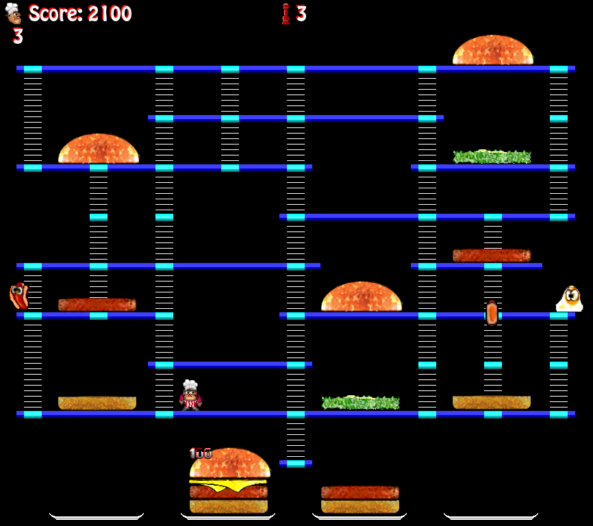 screen shot of Burger Time