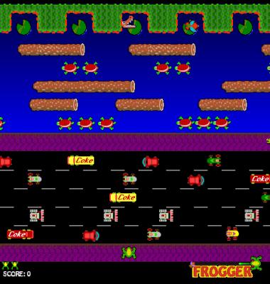 screen shot of Frogger
