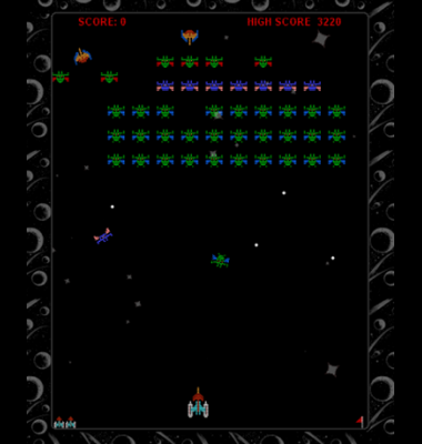 screen shot of Galaxian