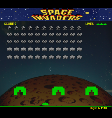 screen shot of Space Invaders