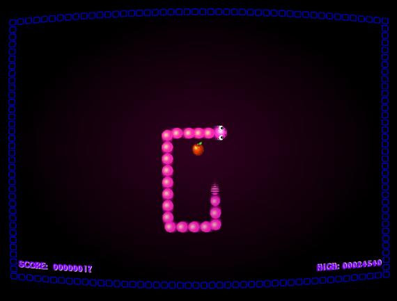 screen shot of Snake