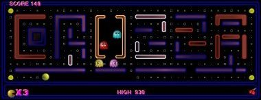 screen shot of mini Pacman